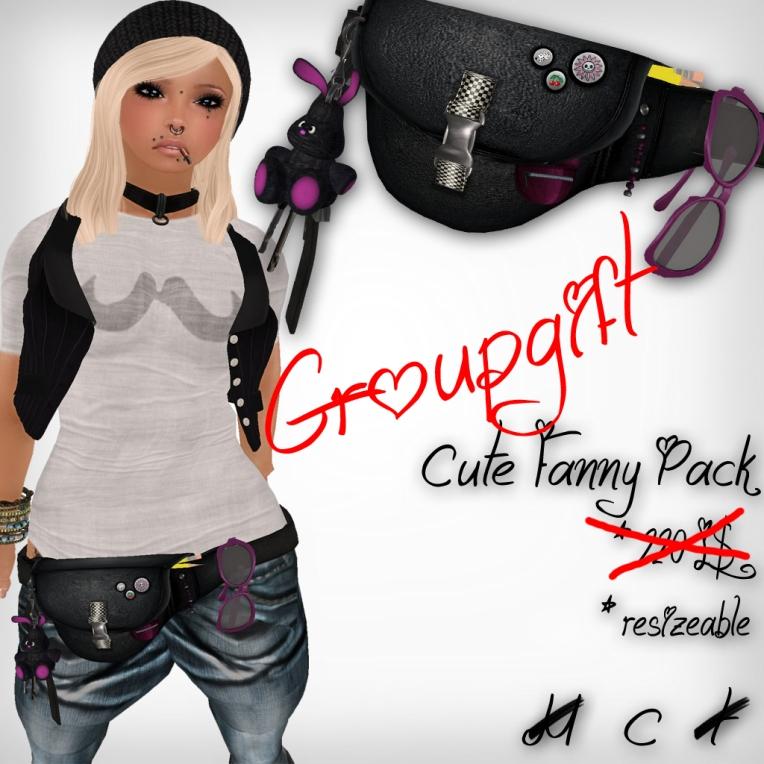verkaufsschild cute fanny pack