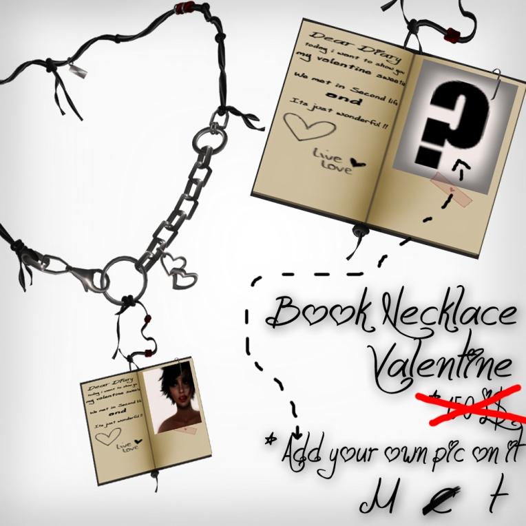 verkaufsschild book necklace valentine