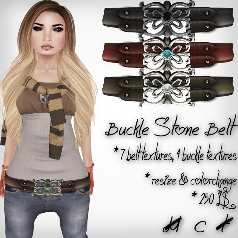 verkaufsschild buckle stone belt