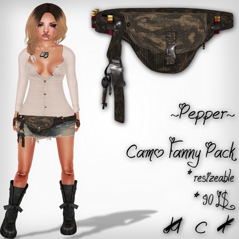 verkaufsschild camo fanny pack perfect wardrobe