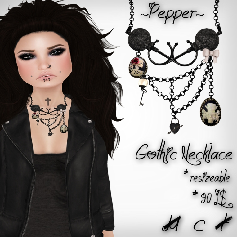 verkaufsschild gothic necklace perfect wardrobe