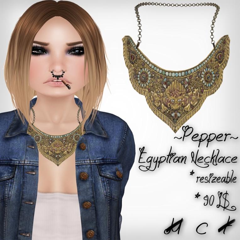 verkaufsschild egyptian necklace