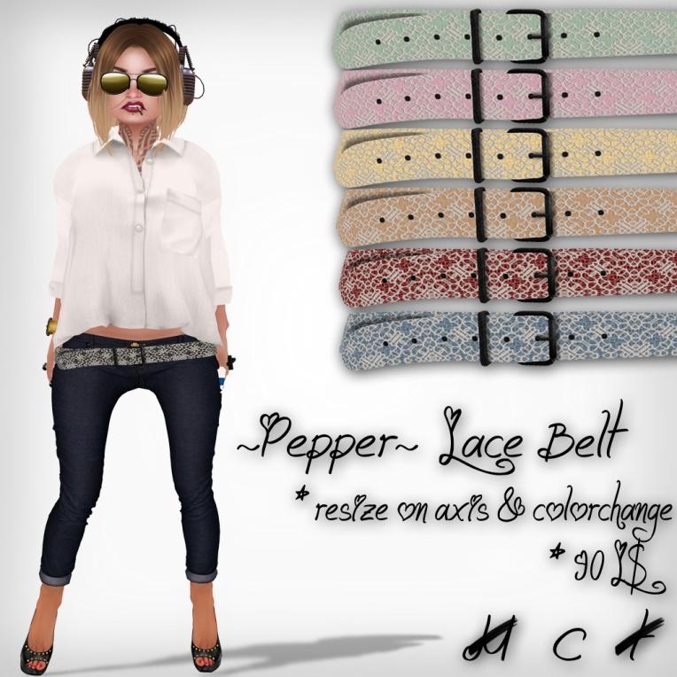 verkaufsschild lace belt perfect wardrobe