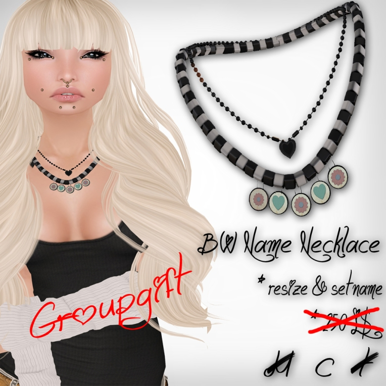 verkaufsschild bw name necklace