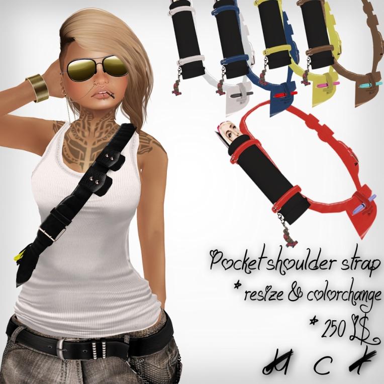 verkaufsschild pocket shoulder strap