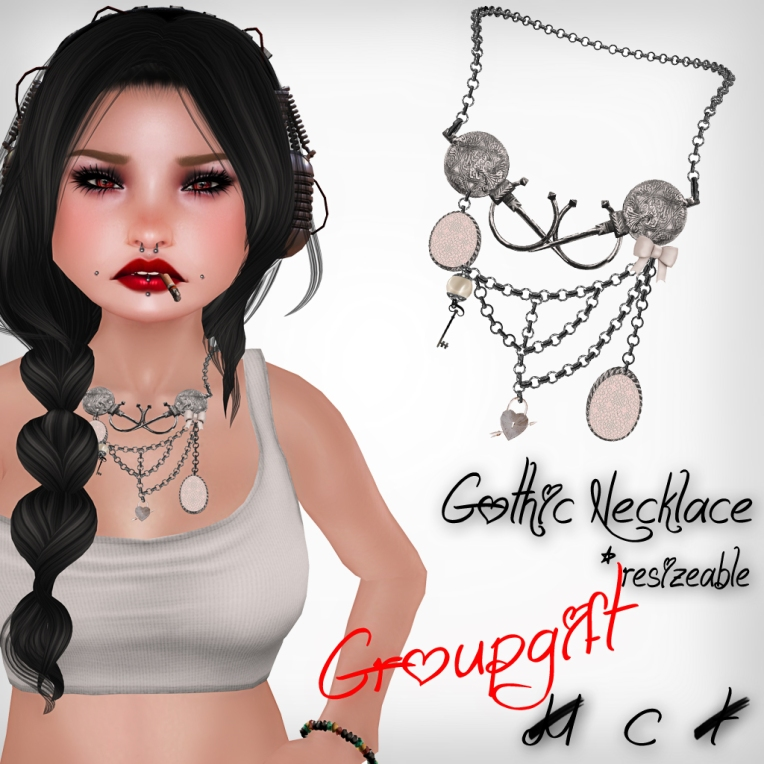 verkaufsschild gothic necklace groupgift